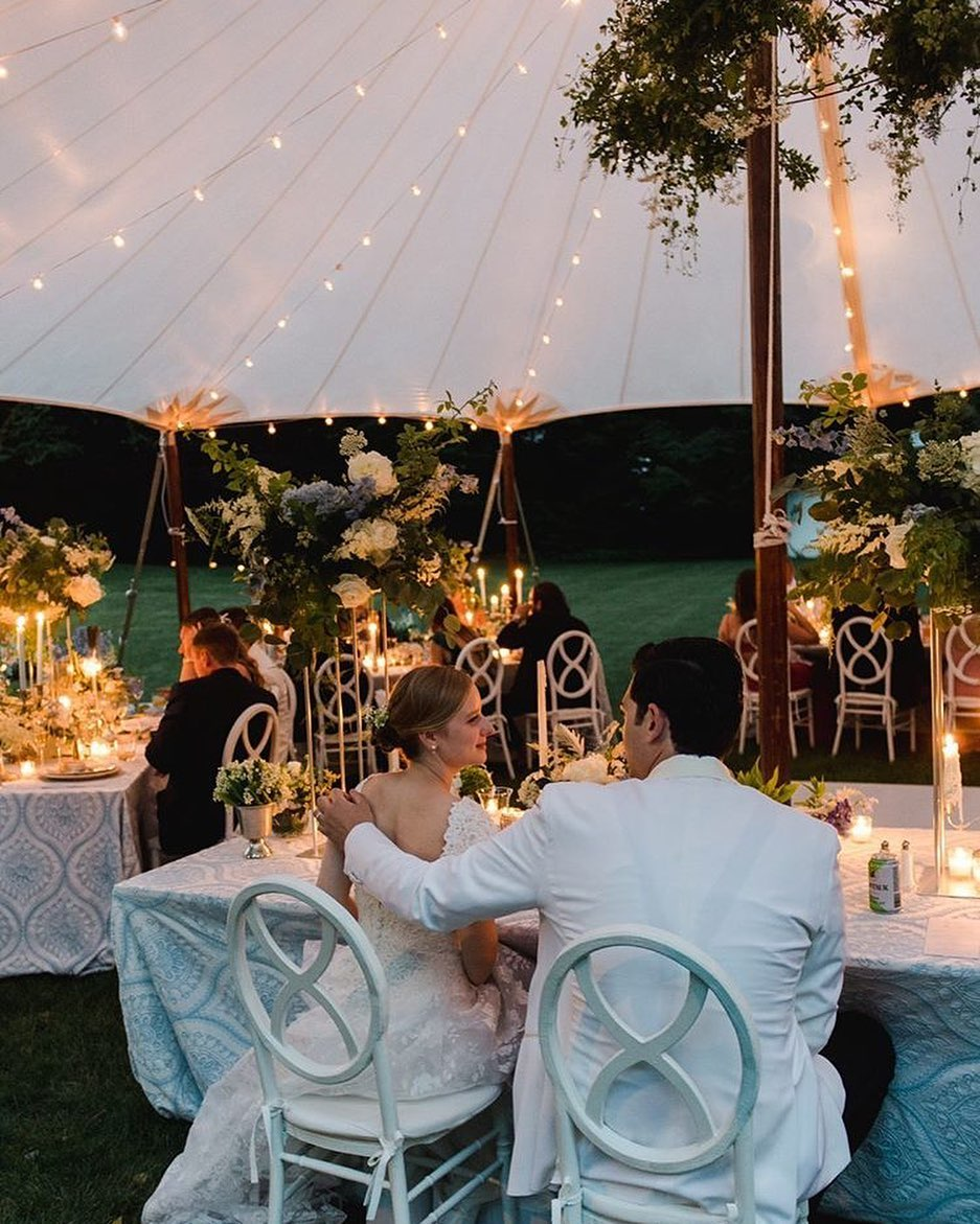 micro wedding under sailcloth tent scarsellas flowers